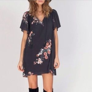 Gentle Fawn Anthropologie Navy Floral Tassel Dress